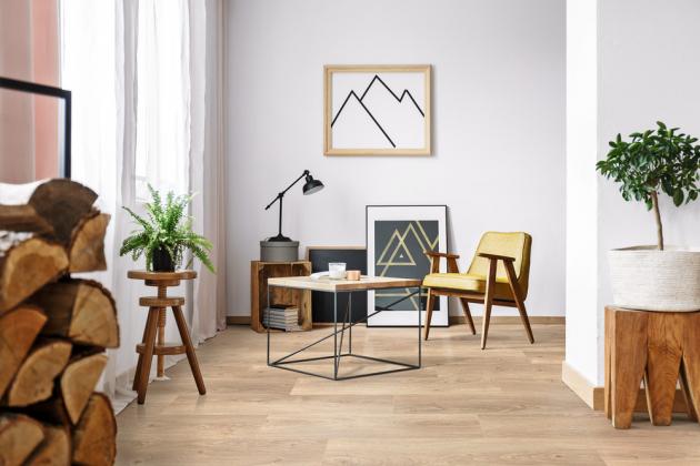 Laminátová podlaha z kolekce Cadenza (Floor Forever), dekor K1305 Legato Light Natural, 214 × 1 383 × 8 mm, cena 873 Kč/m2, WWW.FLOORFOREVER.CZ