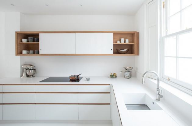 Kuchyně je minimalistickém stylu