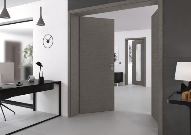 Dveře Future (Vekra), CPL laminát s texturou lněné tkaniny, cena závisí na konkrétní modulaci, WWW.VEKRA.CZ