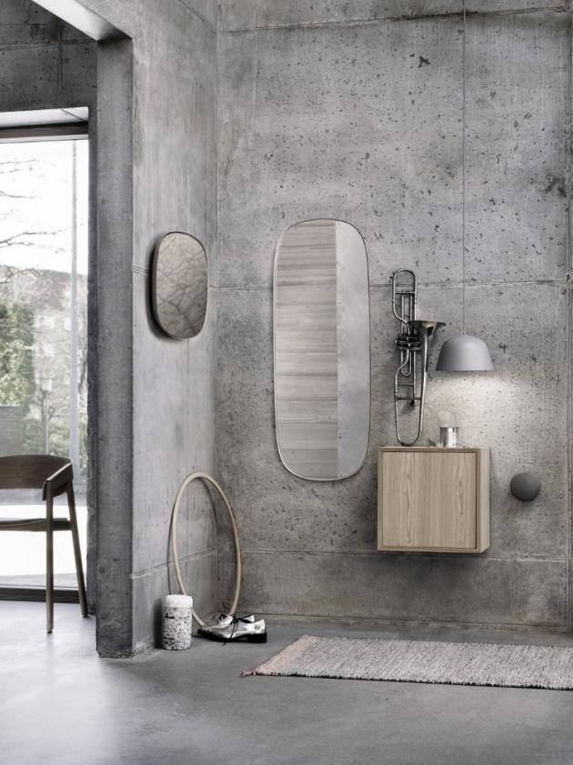 Zrcadla Framed Mirror (Muuto), design Anderssen & Voll, více rozměrů i provedení cena od 6 748 do 14 878 Kč, WWW.DESIGNVILLE.CZ