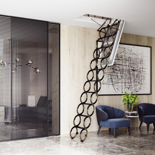 Stahovací schody LUSSO (JAP FUTURE)