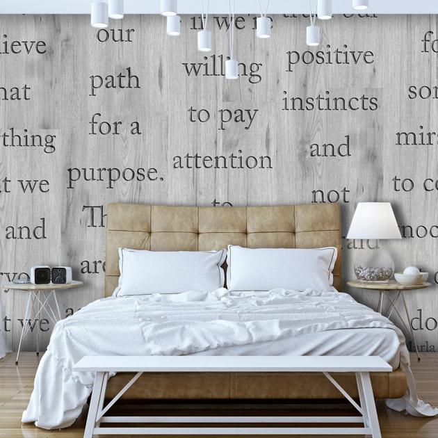 Fototapeta do ložnice s nápisem