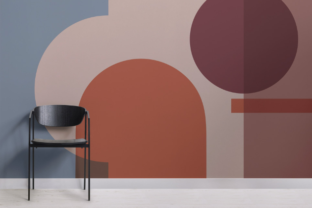 Tapeta Dessau z kolekce Bauhaus (Murals Wallpaper), na výběr z více typů papíru, cena od 1 051 Kč/m2, WWW.MURALSWALLPAPER.COM