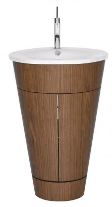 Designová reminiscence na vědro je tak dokonalá, že od svého představení v roce 1994 nebyla nijak vylepšována. Výrobce dosud vyrábí skříňku s umyvadlem Starck 1 (Duravit) ručně a ve zcela nezměněné podobě.Design Philippe Starck, dýha dub, americký ořech a macassar, cena skřínky od 98 409 Kč, cena umyvadla 19 130 Kč, WWW.KOUPELNY-PTÁČEK.CZ