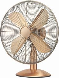 Stolní ventilátor Hantech kovový, měď