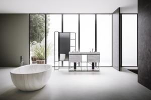 Koupelna 2x jinak: Černobílá a barevná