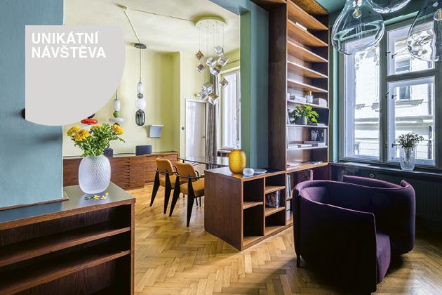 Křišťály v interiéru prvorepublikového bytu