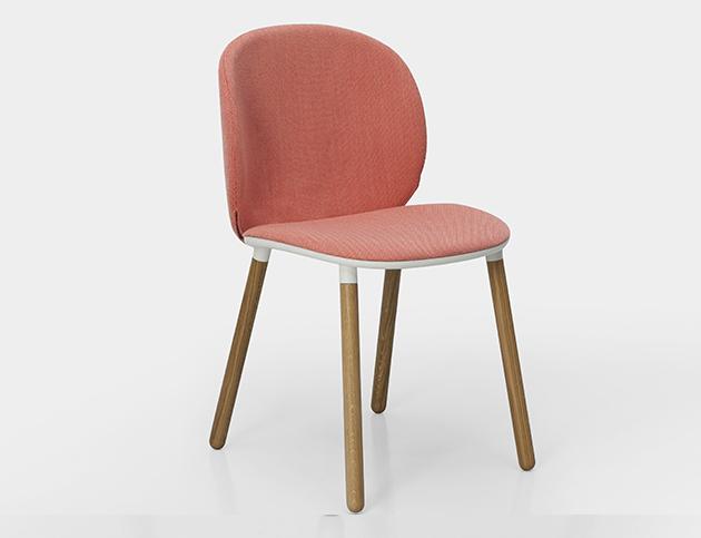 Berlínské studio Läufer -  Keichel vytvořilo židli a křeslo pro italskou značku Kristalia s měkkými, objímajícími liniemi.