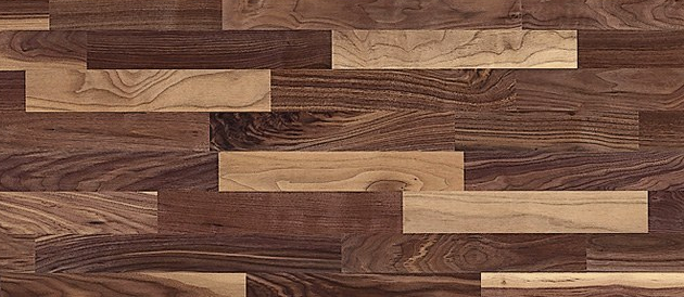 Dřevěná podlaha Ořech americký (ter Hürne), olejovaný povrch, tloušťka nášlapu 3,5 mm, cena 1 780 Kč/m2, WWW.HORNBACH.CZ