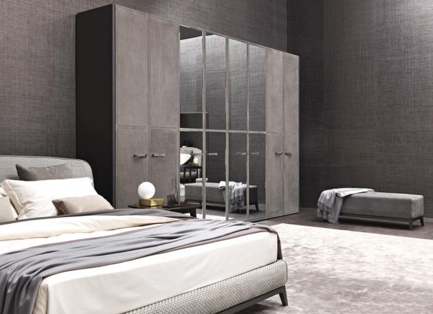 Modulární šatní skříň Guardaroba (Flou), možnost individuálního přizpůsobení typu a povrchu dveří i vnitřního vybavení, cena závisí na konkrétní specifikaci, WWW.STOCKIST.CZ