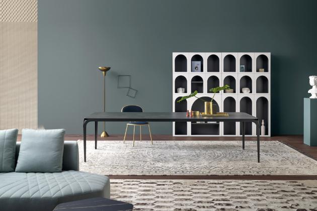 Knihovna Cabinet de Curiosité (Bonaldo), design Fabrice Berrux, matně lakované dřevo, dostupné v několika policových kompozicích, 206 × 120 × 34 cm, orientační cena 86 743 Kč, WWW.PUNTODESIGN.CZ