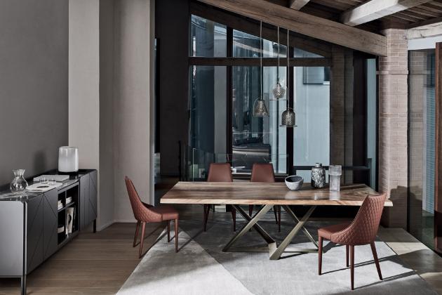 Jídelní stůl Millennium (Bontempi), dřevěná dýha, lze i masiv, cena od 102 673 Kč, WWW.CASAMODERNA.CZ