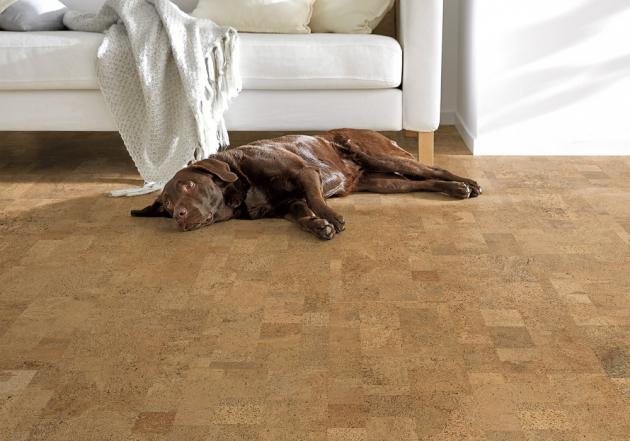 Korková podlahová krytina Sand, nosná deska HDF, způsob pokládky Angle-Angle, cena 520 Kč/m2, WWW.HORNBACH.CZ