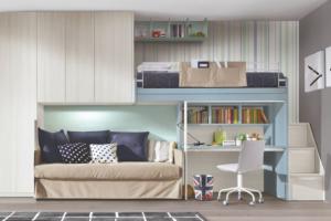 Výrobce Zalf představil originální palandu Gel Bunk Bed, která je spojena se skříňkami a stolem. Je tak jednoduše sestavena, aby maximálně vyhovovala vám i dětem.