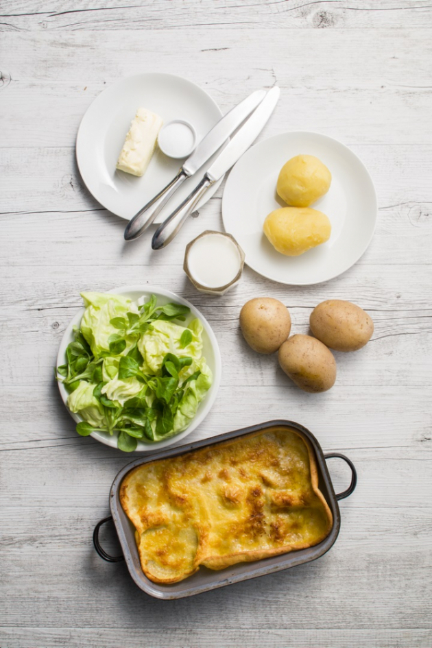 Gryšíble a brambory na loupačku