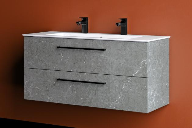 Minimalistický vzhled koupelnové skříňky GIO se se svými čistými liniemi, a přitom velkým prostorem uvnitř zásuvek nese přesně vduchu posledních trendů.