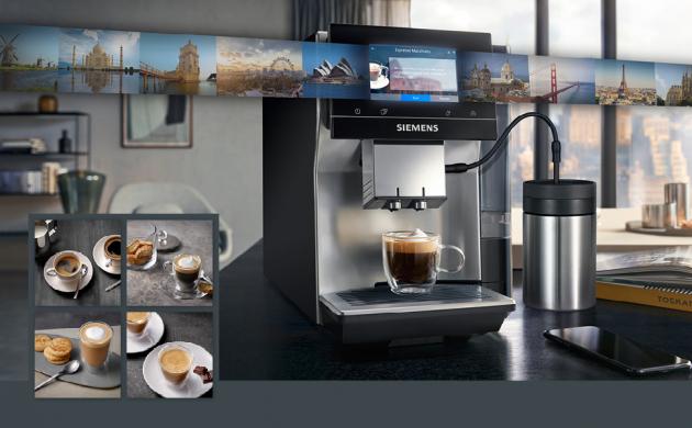 Nejnovější člen rodiny kávovarů Siemens EQ nabízí dokonalou individualizaci kávy na míru osobnímu vkusu.