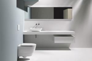 Závěsné WC Save! (Laufen), toaleta s funkcí separace moči, princip cirkulárního hospodářství, EOOS Design, cena na dotaz, WWW.LAUFEN.CZ